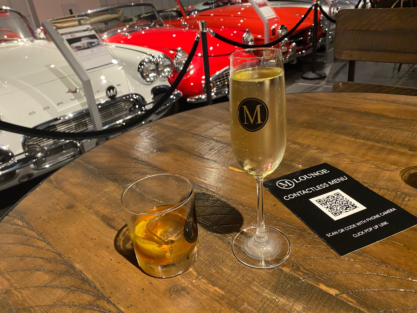 Enjoy a cocktail as you tour the museum