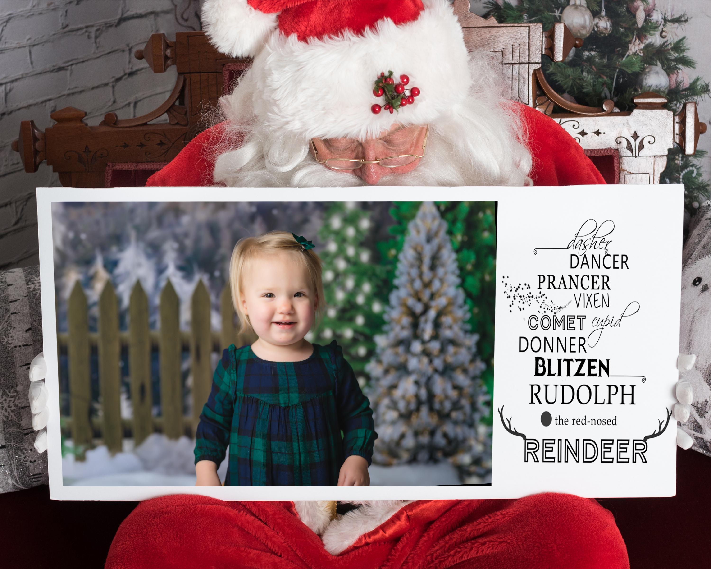 #17-Santa Reindeer Card