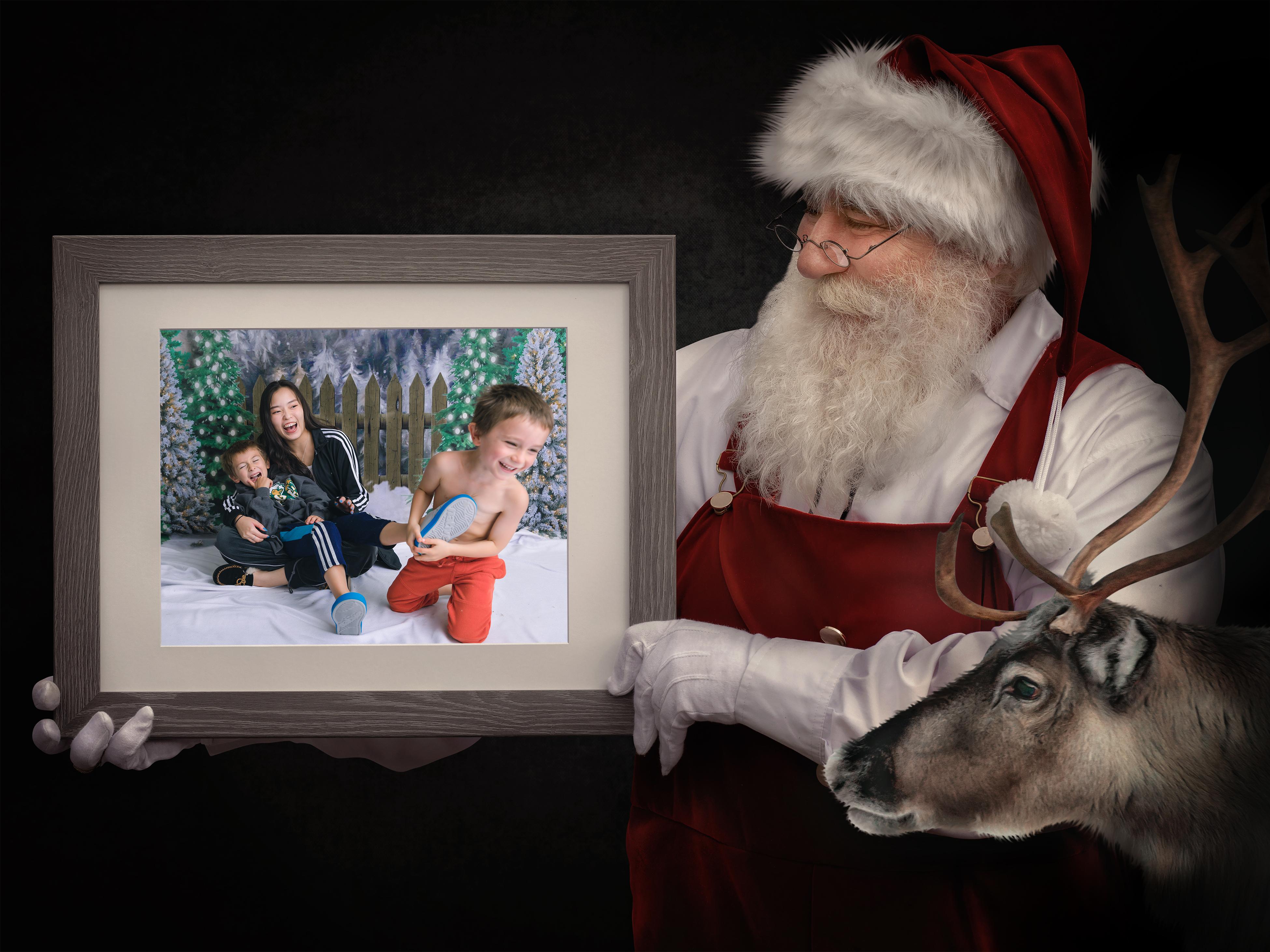 #7 - Painterly Santa