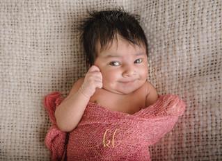 An adorable little newborn
