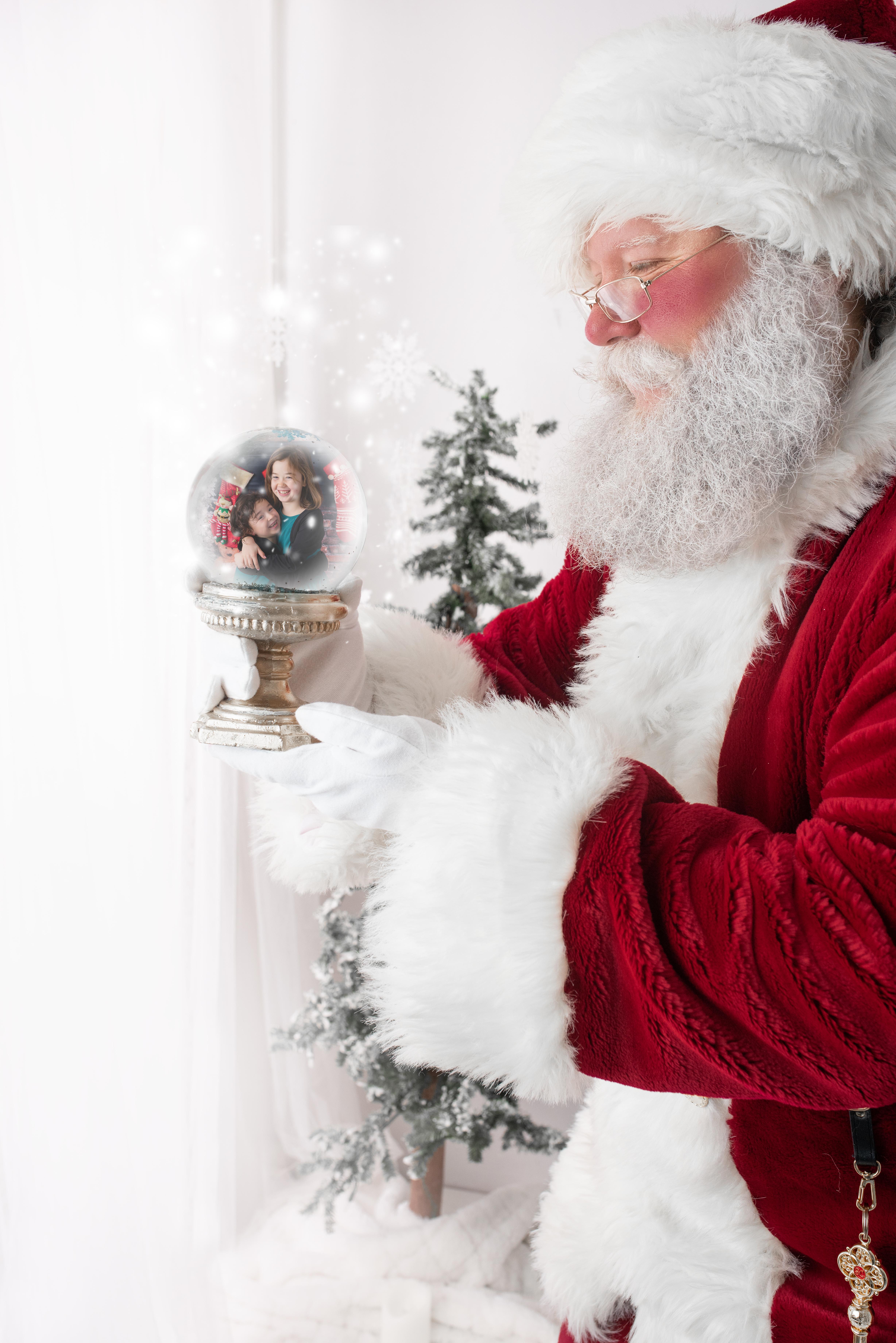 #10 - Santa with Snow Globe Side