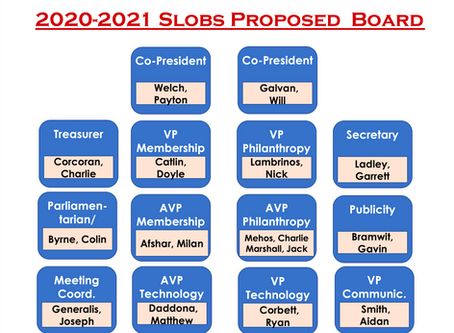 SLOBs Announces 2020-21 Board Slates