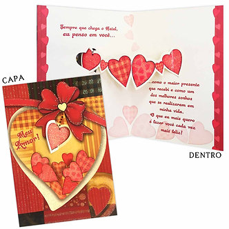Cartão M - Natal Romântico