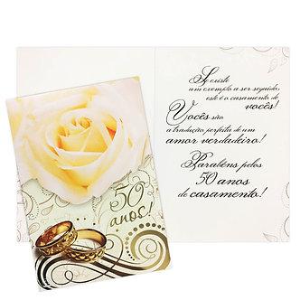 Cartão M - Bodas de Ouro