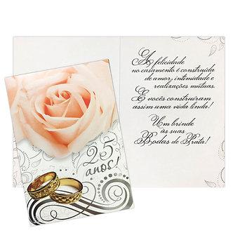 Cartão M - Bodas de Prata