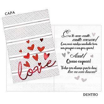 Cartão M - Romântico
