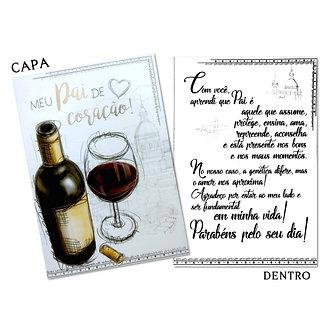 Cartão M - Pai de Coração