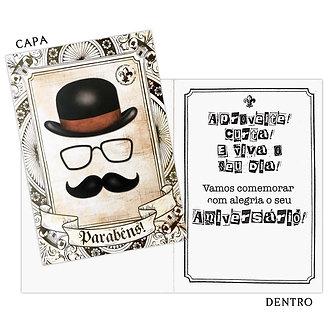 Cartão M - Aniversário