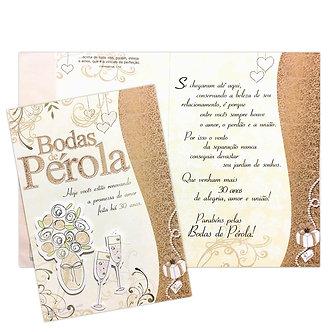 Cartão M - Bodas de Pérola
