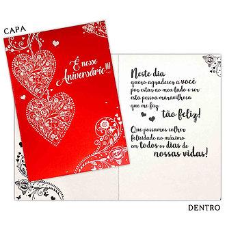 Cartão M - Aniv. Romântico