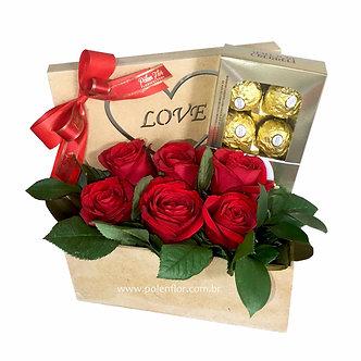 Caixa de Rosas c/ Bombons