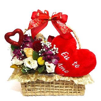 Cesta Flores do Campo de Amor
