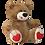 Thumbnail: Buquê Luxo 36 Rosas + Urso 60cm