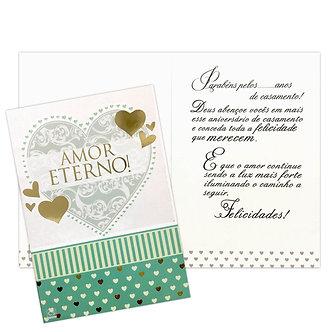 Cartão M - Aniversário de Casamento