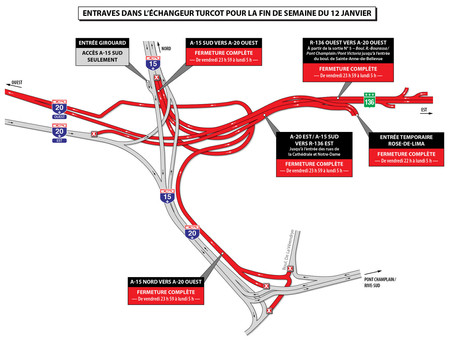 MAJOR Turcot Closures This Weekend January 12, 2018