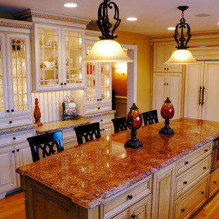 French Chateau Kitchen with Custom Built Ins