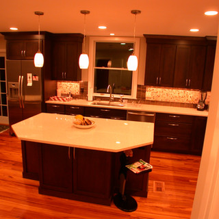 Tigerwood Transitional Kitchen