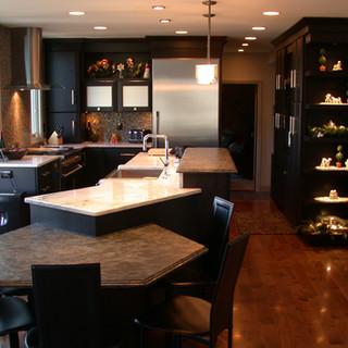 Black Contemporary Kitchen