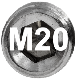 M20 DIN 915, ISO 4028 Metric Flat Point Socket Set Screw