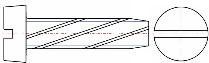 Thread Cutting Slotted Flat Countersunk Screw