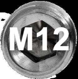 M12 DIN 915, ISO 4028 Metric Flat Point Socket Set Screw