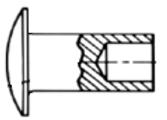 Semi-Tubular Rivets