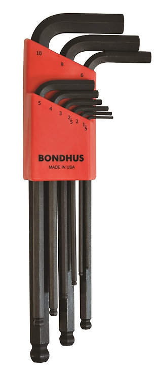 Metric 9 pc Ball End L-Wrenches