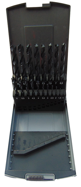 19 PC High Speed Steel Drill Set