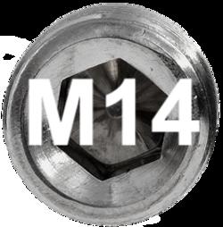 M14 DIN 914, ISO 4027 Metric Flat Point Socket Set Screw