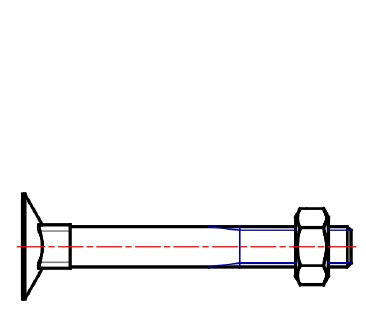 DIN 605  PLOW BOLT WITH FLAT HEAD, METRIC COUNTERSUNK PLOW BOLT
