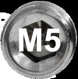 M5 DIN 915, ISO 4028 Metric Flat Point Socket Set Screw