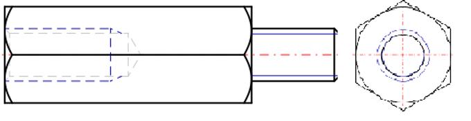 Brass Standoff Internal / External Threads