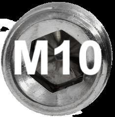 M10 DIN 915, ISO 4028 Metric Flat Point Socket Set Screw