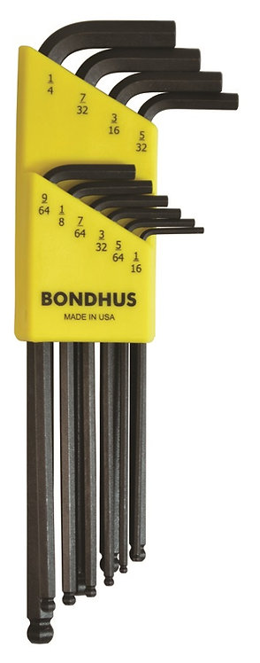 Inch 10 pc Ball End L-Wrenches