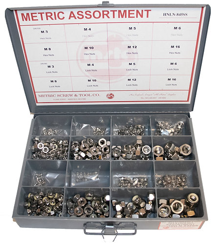 Hex Nut & Lock Nut Assortment Stainless Steel ***845 Pieces***