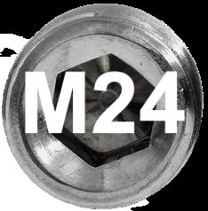 M24 DIN 915, ISO 4028 Metric Flat Point Socket Set Screw