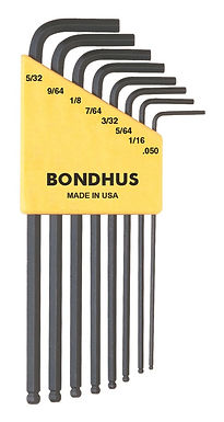 Inch 8 pc Ball End L-Wrenches