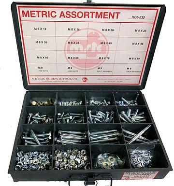 M6 Hex Cap Screw, Nut & Washer Assortment 585 Pieces