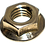 Thumbnail: Hex Flange Lock Nut, Serrated Face