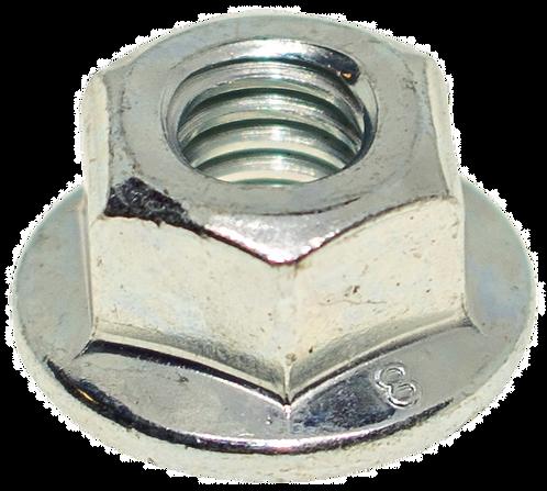 Hex Lock Flange Nuts, All Metal