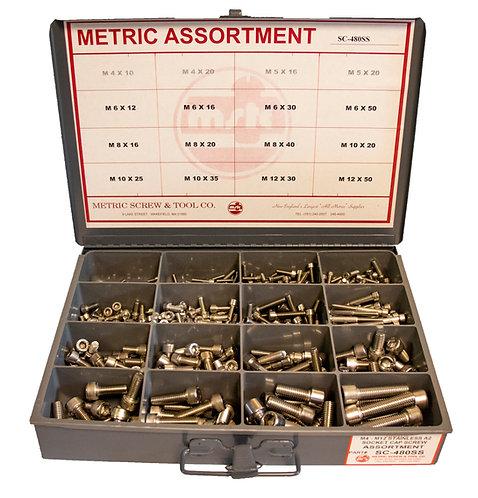 Socket Cap Screw Assortment, Stainless Steel  M4-M12 480 Pcs
