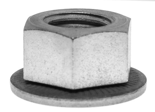 Hex Nut, Attached Spring Washer