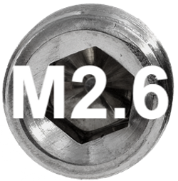 M2.6 DIN 914, ISO 4027 Metric Flat Point Socket Set Screw
