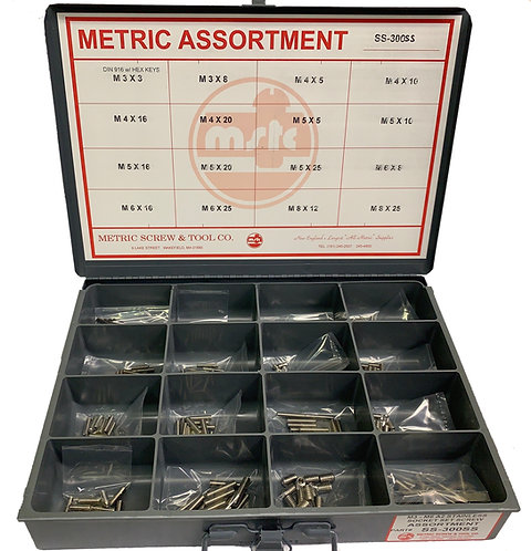 Socket Set Screw Assortment, Stainless Steel with Hex Keys 300 Pcs