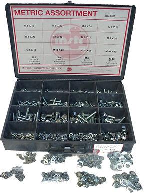 Hex Cap Screw, Hex Nut, Flat & Lock Washers 620 Pcs