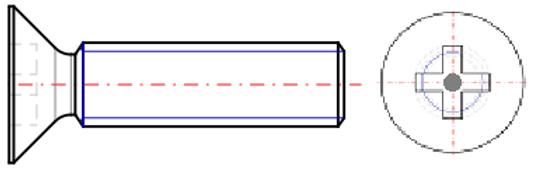 Cross Recess Pin Flat Head