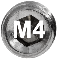 M4 DIN 915, ISO 4028 Metric Flat Point Socket Set Screw