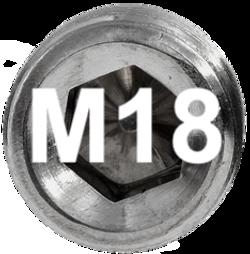M18 DIN 914, ISO 4027 Metric Flat Point Socket Set Screw