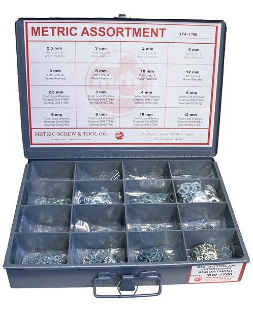 METRIC WASHER ASSORTMENTS AND KITS