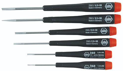 Precision Slotted Screwdrivers 6 pc Set